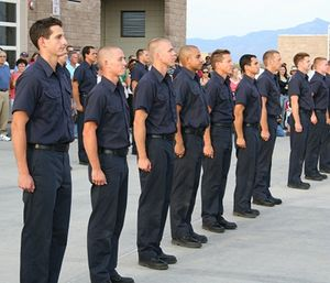 You must be in excellent physical and mental condition to be able to pass the rigorous training of the fire academy. (Photo/City of Tucson, Ariz.)
