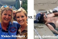 Cold Water Challenge Face-off: Billy Goldfeder vs. Vickie Pritchett