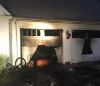 Conn. firefighter suffers serious facial injury while battling blaze