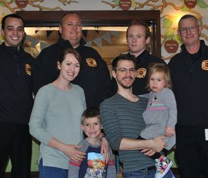 The Springfield Fire Company pooled together about $2,000 in cash and bank gift cards, and worked with the Ronald McDonald House to arrange a surprise for the Blackburn family. (Photo/Ronald McDonald House)