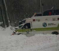 Patient killed, 2 injured after ambulance collides with semi