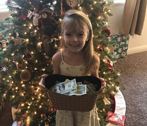 Faye Segraves' fund that she started with $7 in chore money now totals $10,000. (Photo/Mobile Cause)