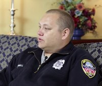 Firefighter leaving memorial service helps cop save baby's life