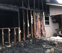 Firefighter responds to fire at own home, discovers son is trapped inside