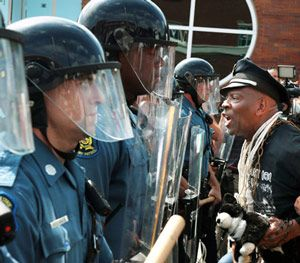 The 'Ferguson effect' developed in part from the reaction to the 2014 police shooting of Michael Brown in Ferguson, Missouri. (AP Photo)