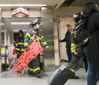 NYC train stuck in tunnel for 3 hours; 16 hurt in stampede
