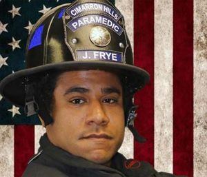 Firefighter-paramedic Jermaine Frye. (Cimarron Hills Fire Department Photo)