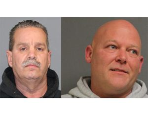 William Tortora (left) and Gregory Bomba (right) are facing arson charges. (Photo/Shelton Police Department)