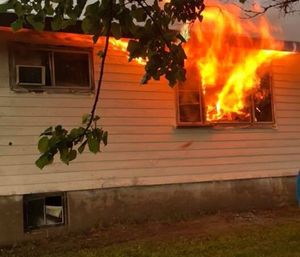 Buckley Fire Department firefighter-EMT Richard Crossman was responding to an EMS call when he was informed that his house was on fire. (Photo/GoFundMe)
