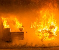 Staged Christmas tree fire shows potential risks