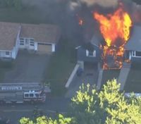 Video: Series of gas explosions damage multiple homes north of Boston