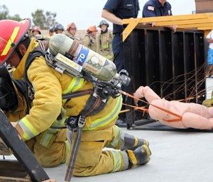 While initial firefighter training for those entering the service often occurs after appointment to a position, many small urban departments now require fire and EMS training prior to appointment. (Photo/San Diego Unified School District)