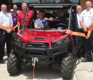 Firehouse Subs recently awarded SCCAD a grant for a utility terrain vehicle, which will be used to reach patients who suffer medical emergencies in areas difficult to access with traditional ambulances. (Photo/SCCAD)