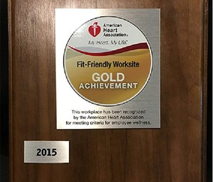 Austin-Travis County EMS was recognized by the American Heart Association as a Fit-Friendly Workplace. (Photo courtesy of ATCEMS)