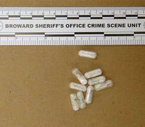 This Feb. 12, 2015 photo made available by the Broward Sheriff's Office, Fla., shows confiscated vials of flakka. (AP Image)