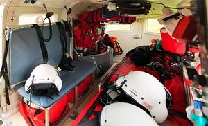 Inside an air ambulance (Photo/Wikimedia)