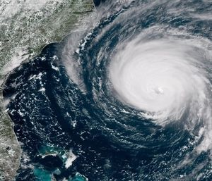 The International Association of Fire Chiefs reminded emergency responders to avoid self-dispatching to disaster locations as Hurricane Florence approaches the East Coast. (Photo/NPR.org)