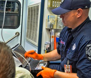 Brent McGinnis quickly envisioned potential uses for FirstNet by EMTs and paramedics. (Photo/FirstNet)