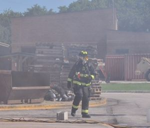 Common carcinogenic agents found in smoke include arsenic, asbestos, diesel engine exhaust, soot and formaldehyde. Firefighters are exposed to a number of these agents on a routine basis. (Photo/John M. Buckman III)