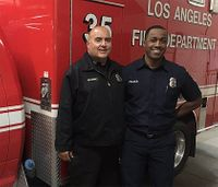 Rookie firefighter talks suicidal man down from Calif. overpass