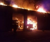 Mo. fire station destroyed in fire