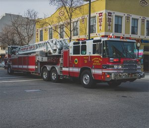 There are many theories about why fire trucks are red. (Photo/Pixabay)