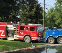 Fire truck catches fire at Ill. fire station