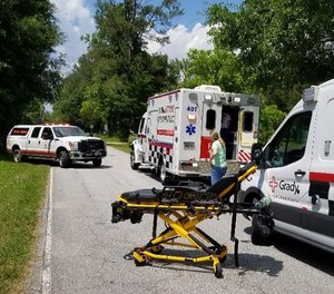 The south Fulton territory includes urban sections of Atlanta, then suddenly shifts to rural terrain in the cities of Palmetto and Chattahoochee Hills.  (Photo/ Fulton County Emergency Services)