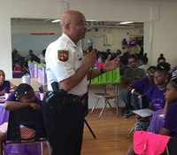 Baltimore youth go to cop camp