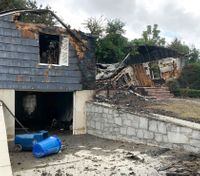 Officer helped others as his home burned after gas blasts