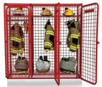 Beyond a hook or nail: An evolution in firefighter gear storage