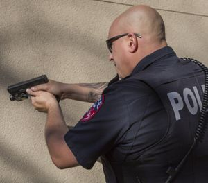 A firearm typically creates 134 decibels. (Photo/PoliceOne)