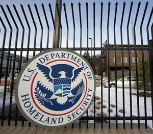 This Feb. 24, 2015, file photo, shows the Homeland Security Department headquarters in northwest Washington. (AP Image)