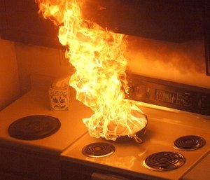 Grease fires are among the most common types of fires (Photo/Flickr)