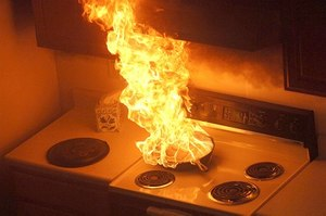 Grease fires are a leading cause of home fires (Photo/Flickr)