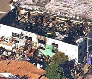 he one-year anniversary of the deadliest building fire in the U.S. in more than a decade is bringing back painful memories for victims' families. (KGO-TV via AP)