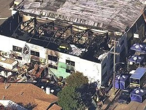 Breaking a long silence, the reclusive owners of the Ghost Ship warehouse, where 36 people died in a fire, are blaming the tragedy on their electrician, claiming he lied about being a licensed contractor. (Photo/AP)