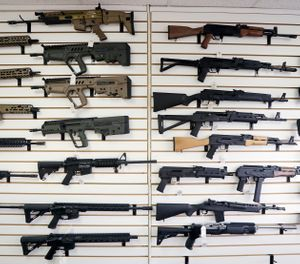"Starting Tuesday, Jan. 1, 2019, no one under the age of 21 in Washington state will be allowed to purchase a ""semi-automatic assault rifle,"" under a voter-approved initiative that passed in November. (AP Photo/Elaine Thompson, File)"