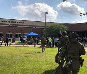 At least one gunman opened fire at a Houston-area high school Friday, killing multiple people, most of them students, authorities said. (Photo/Harris County Sheriff's Office)