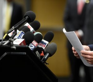 Brian McKnight, Drug Enforcement Administration special agent in charge, speaks at a news conference, Wednesday, Aug. 15, 2018, in downtown Chicago. (AP Photo/Annie Rice)