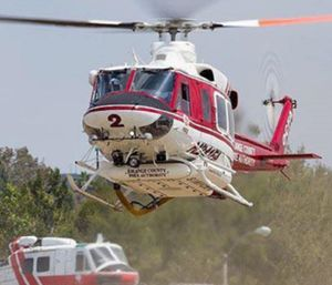 During the past two years, the Orange County firefighters and the sheriff's department have competed for control of air rescue operations in the county's remote areas. (Orange County Fire Authority)