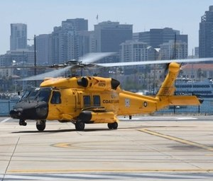 U.S. Coast Guard officials launched a helicopter to investigate a report -- which ultimately turned out to be unfounded -- of about a dozen people struggling in the ocean near the U.S.-Mexico border. (Photo/U.S. Coast Guard)