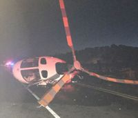 Drunk driver slams into medical helicopter, fire truck