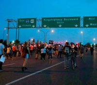St. Louis braces for more protests after 10 cops injured