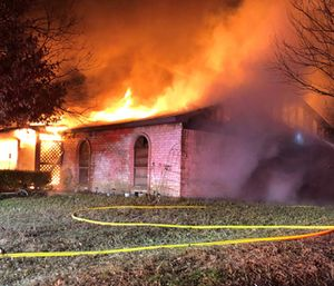A MedStar paramedic and a nurse lost their home and several pets in a fire that started while they were both at work. (Photo/Mansfield Fire Department)