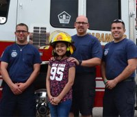 13-year-old cancer survivor named honorary firefighter