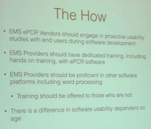 Interactive training is absolutely necessary if you want people use their ePCR software effectively. (Photo by Greg Friese)