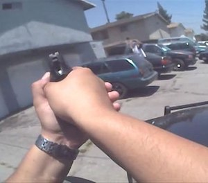 A still image of body-worn camera footage released by the Rialto Police Department. (Photo/Rialto PD)