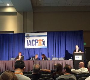 A panel speaks on the success of pre-arrest diversion programs for drug addicts at IACP 2017. (Photo/Cole Zercoe)