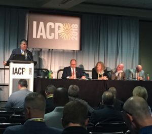 In this photo, police leaders share their strategies for battling the recruitment crisis with IACP attendees. (Photo/PoliceOne)